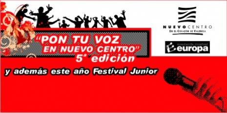 5ª edición del concurso Pon Tu Voz y además este año Festival Junior