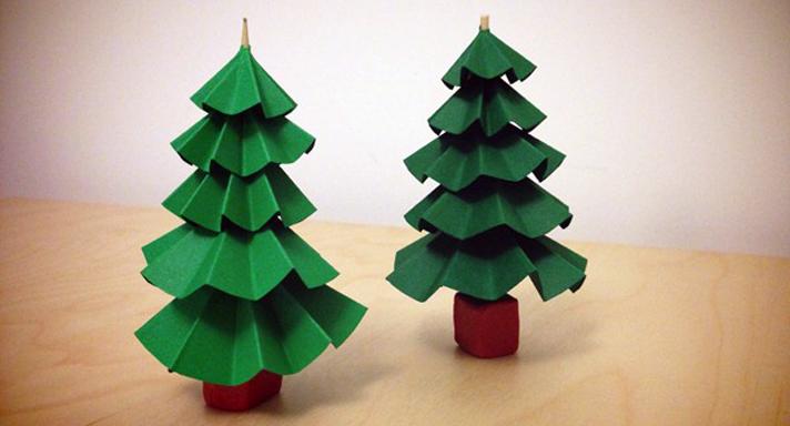 Arbolitos de navidad de papel - Arbol de navidad de origami ...